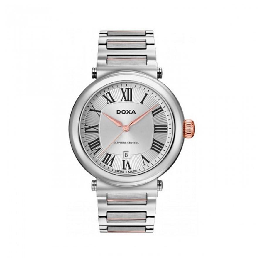 Calex Silver Dial Two-Tone Quartz Men's Watch