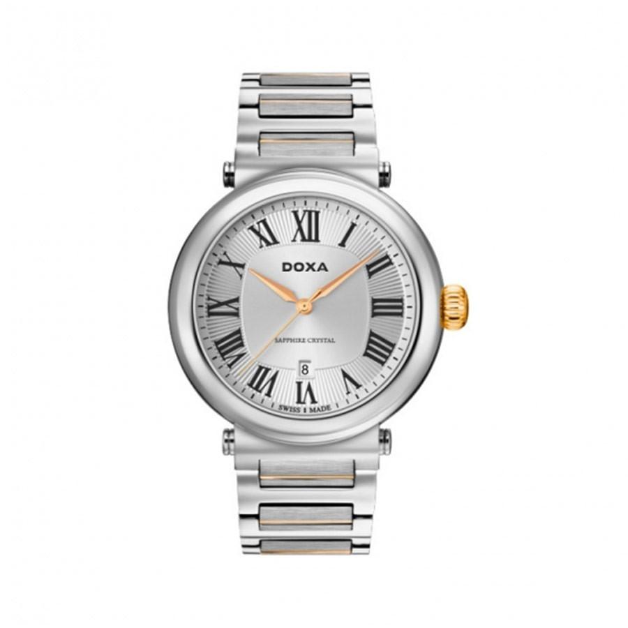 Calex Quartz Silver Dial Two-Tone Men's Watch