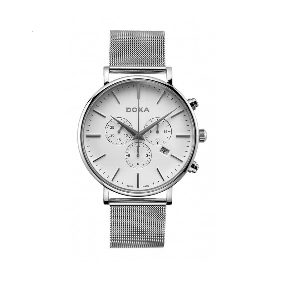 D-Light Steel White Dial Men's Chronograph Watch