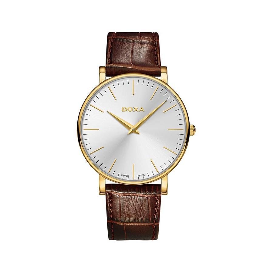 DOXA D-light Gold Toned Silver Dial Men's Watch