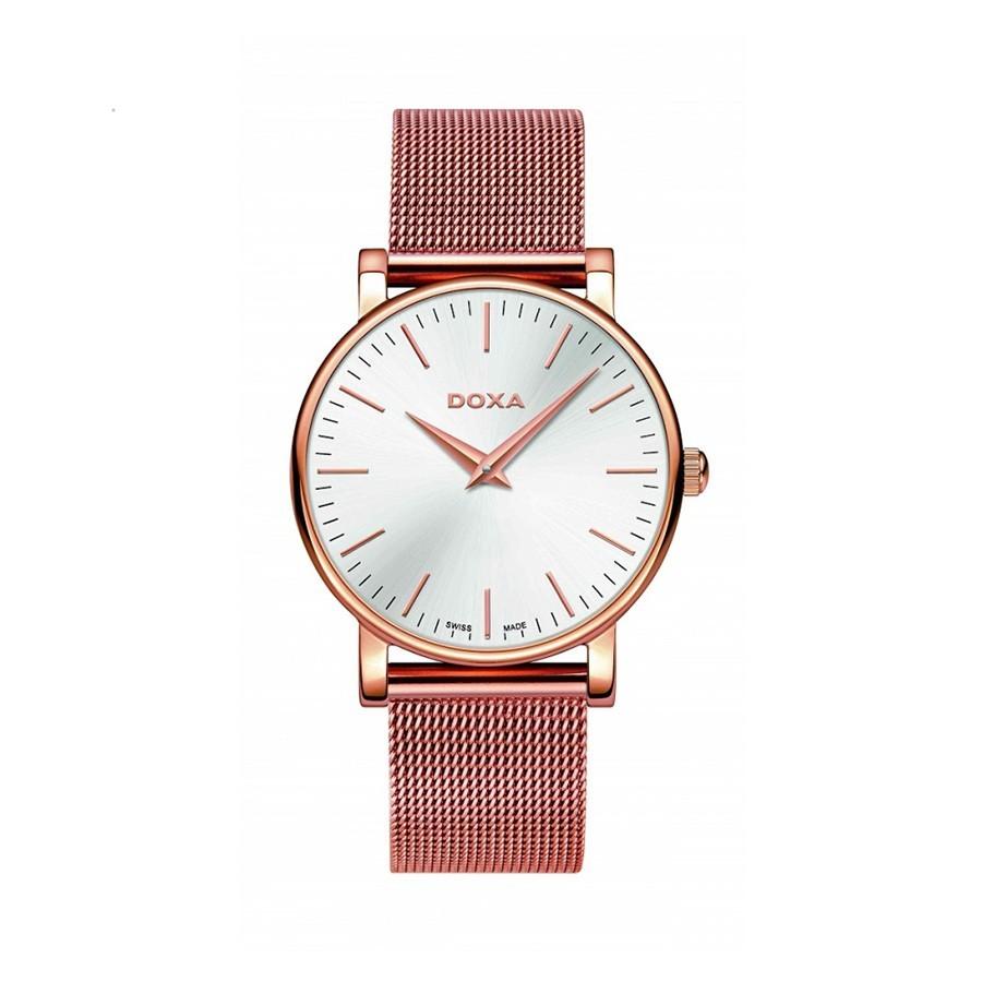 D-light Quartz Silver Dial Rose Gold  Ladies Watch