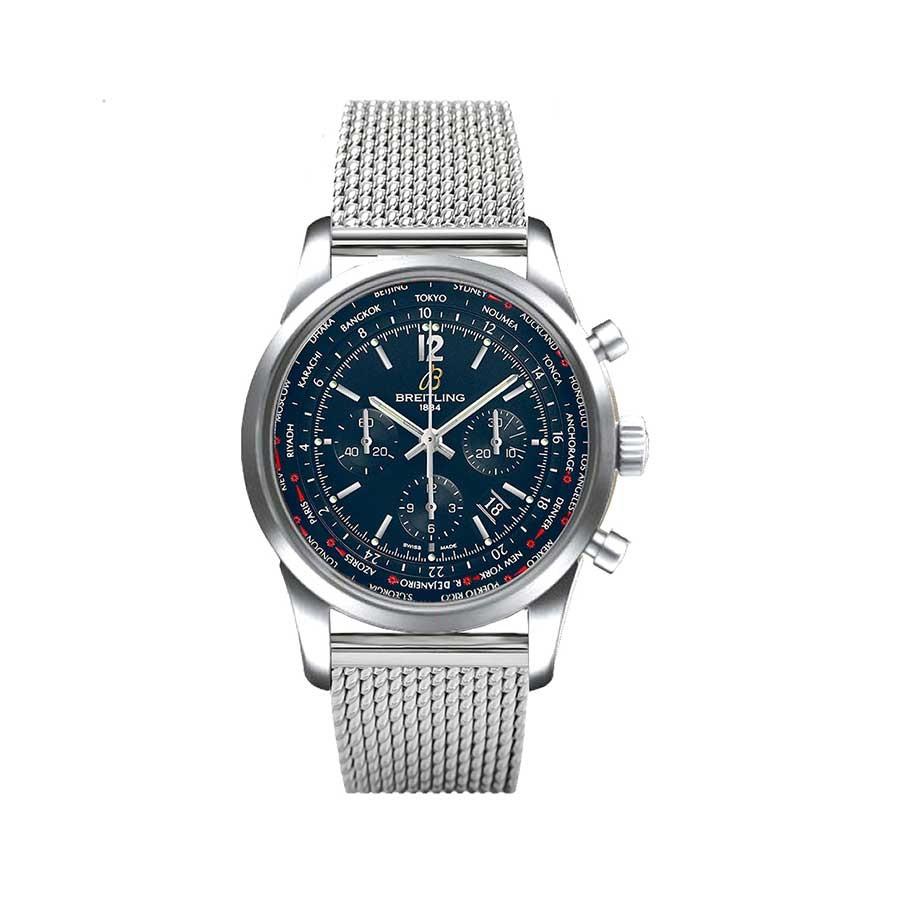 BREITLING Transocean Unitime Pilot Chronograph 46 Blue Dial Men's Watch
