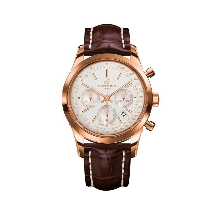 BREITLING Transocean Chronograph 43  Rose Gold Men's Watch