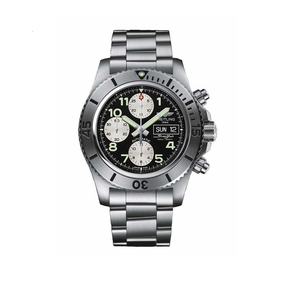 Superocean Chronograph Steelfish Black Dial Steel Men's Watch
