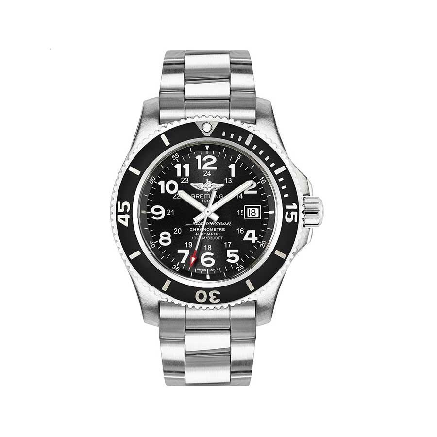 BREITLING Superocean II Black Dial Stainless Steel Men's Watch