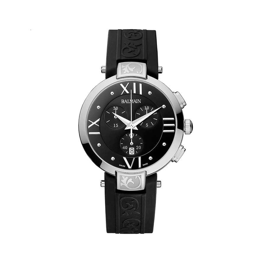 Balmain Iconic Chrono Lady Black Dial Chronograph Watch B5351.32.62