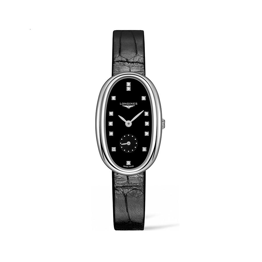 Symphonette Blck DIal Diamonds Quartz Ladies Watch