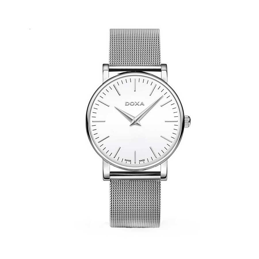 D-LIGHT Quartz White Dial Stainless Steel Men's Watch