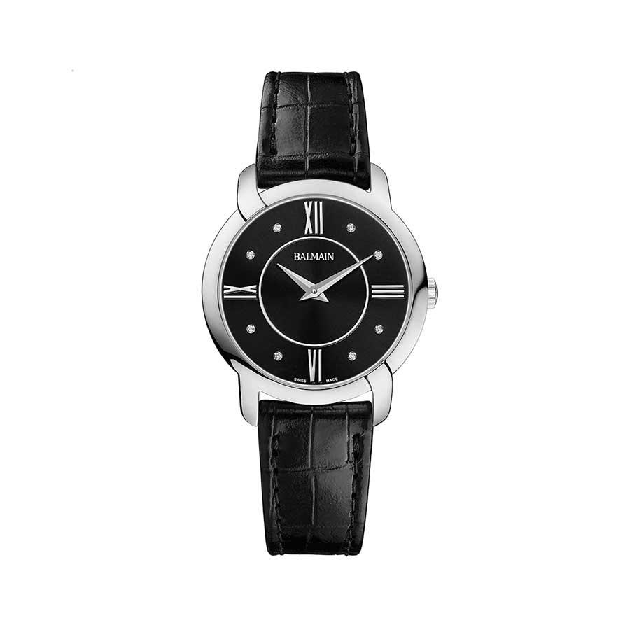 Ivoiria Diamond Black Dial Ladies Watch B3851.32.62