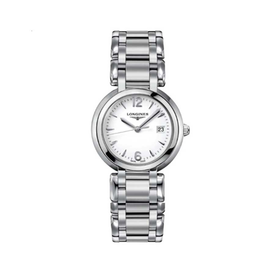 Prima Luna White Dial Quartz Ladies Watch