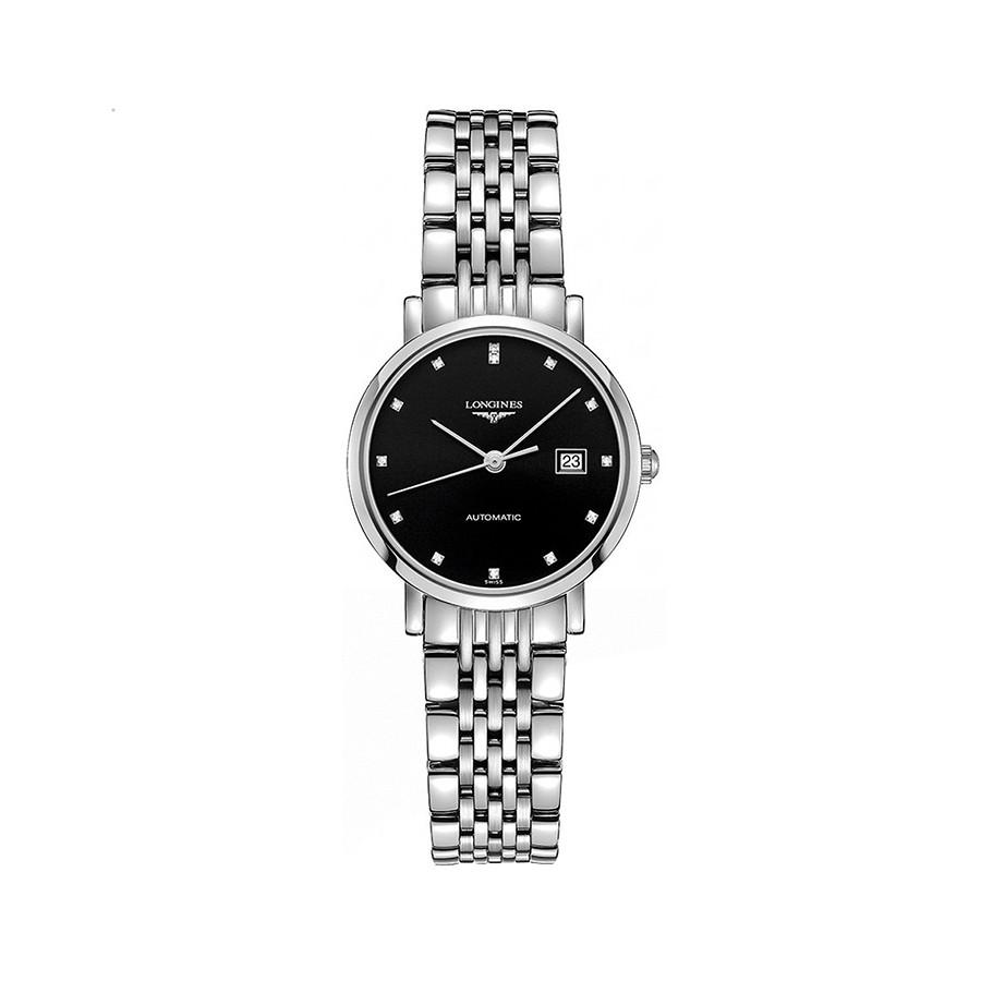 Black Dial Stainless Steel Ladies Watch L4.310.4.57.6