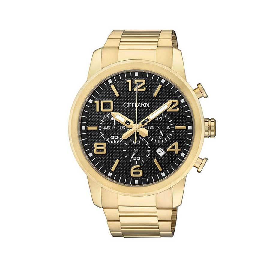 Black Dial Gold Tone Chronograph Men's watch AN8052-55E