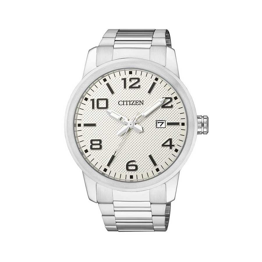 White Dial Stainless Steel Quartz Men's Watch BI1020-57A