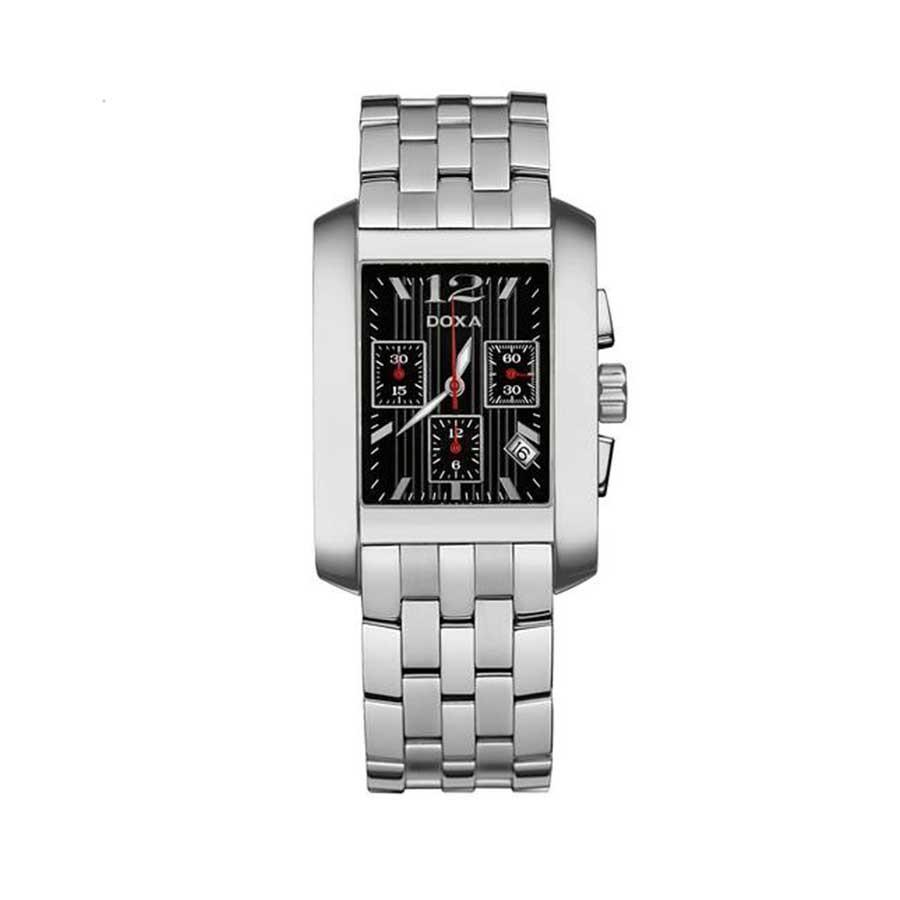 Style Quartz Chronograph Black Dial Steel Men's Watch