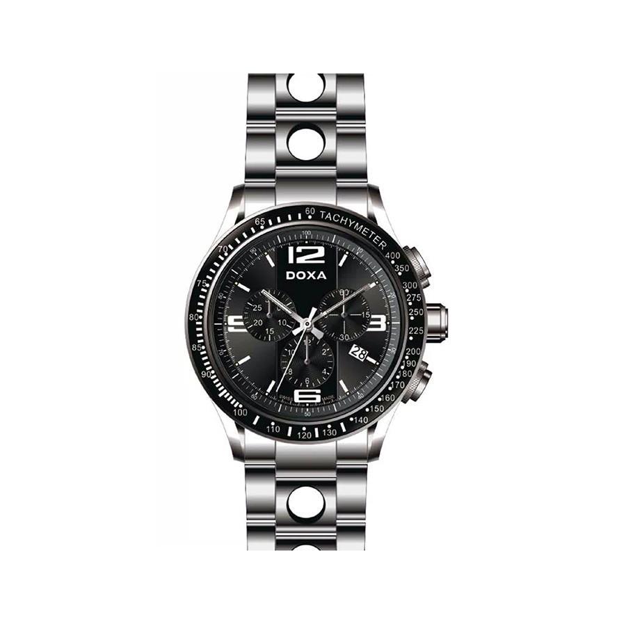 Trofeo  Sport Chronograph Black Dial Steel Men's Watch