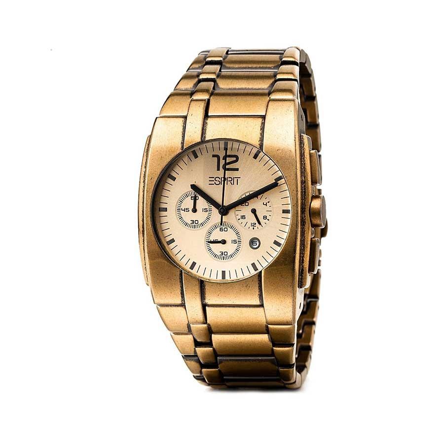 Quartz Chronograph PVD Gold Men's Watch ES101061003