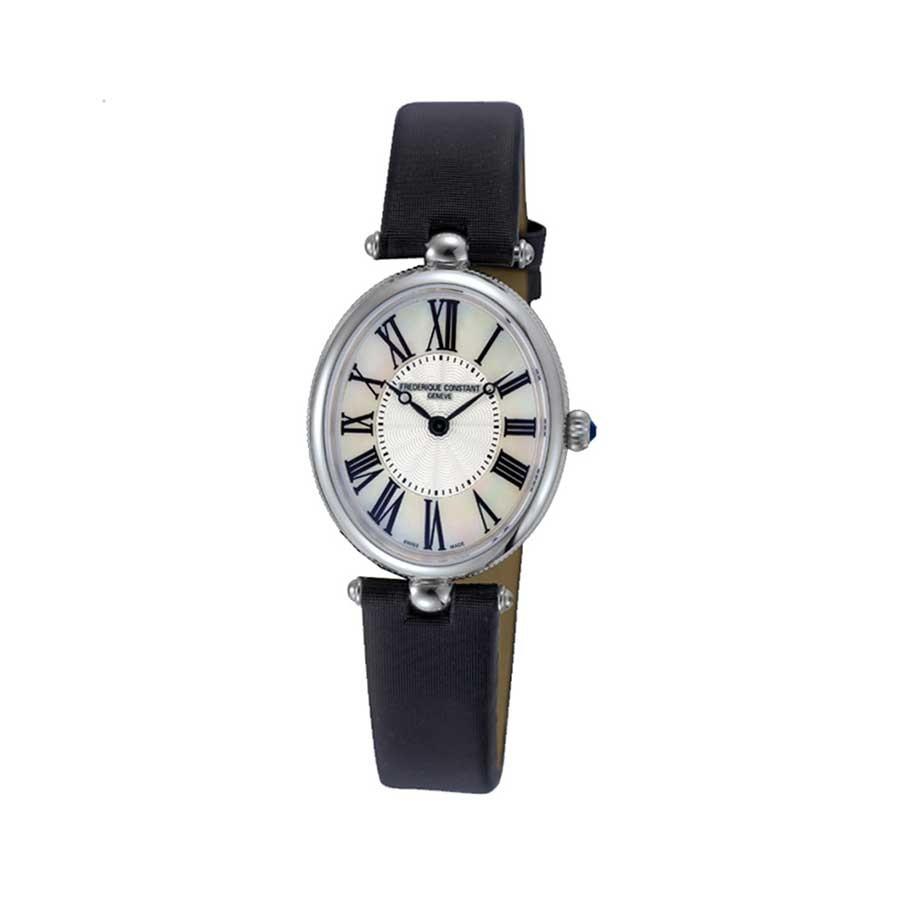 Classics Art Deco Black Satin Ladies Watch