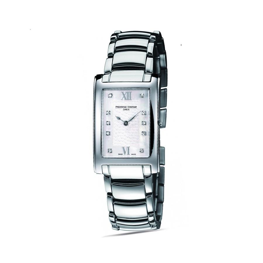 Classics Carree White Hearts Diamonds Ladies Watch