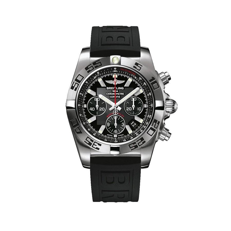 Chronomat 44 Black Dial Stainless Steel Men's Watch