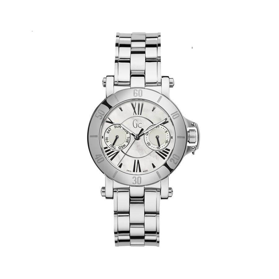 GC Silver Case & Bracelet White Mop Dial Ladies Watch