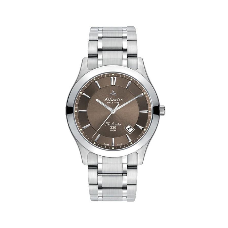 Seahunter 330 Steel Brown Dial Men's Watch
