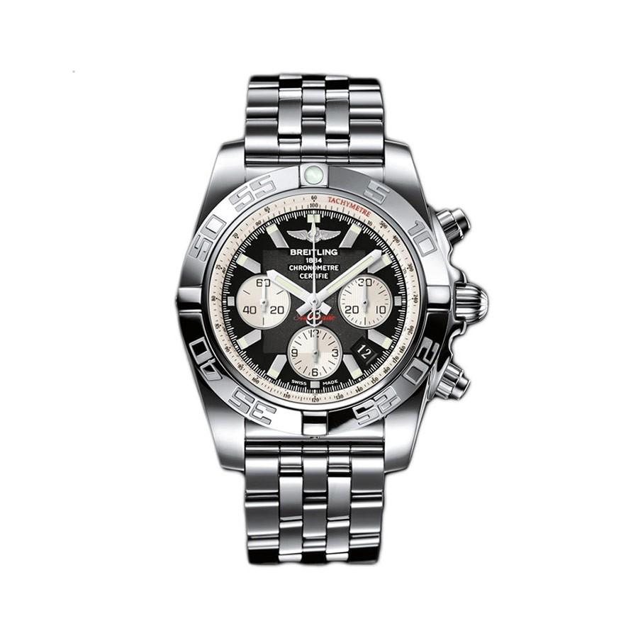 BREITLING Chronomat 44 Black Dial Steel Men's Watch