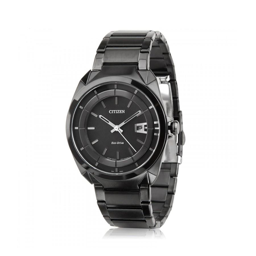 Eco-Drive Black Dial PVD Black Men's Watch AW1015-53E