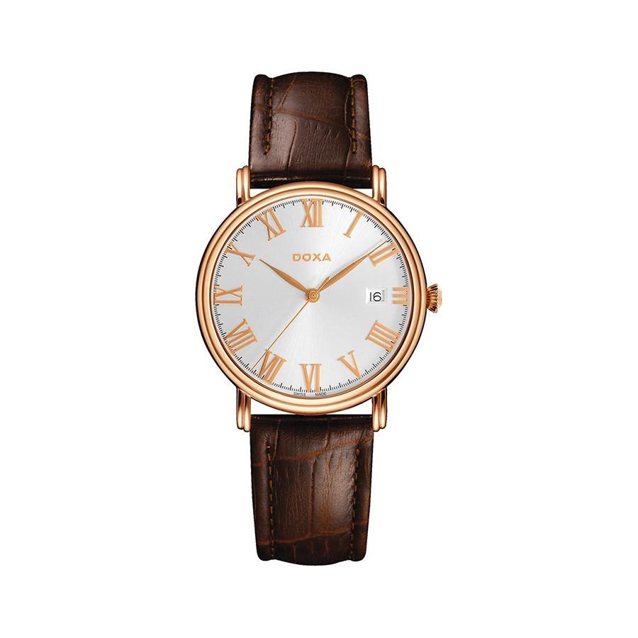 Royal Quartz Silver Dial Pink Gold Men's Watch