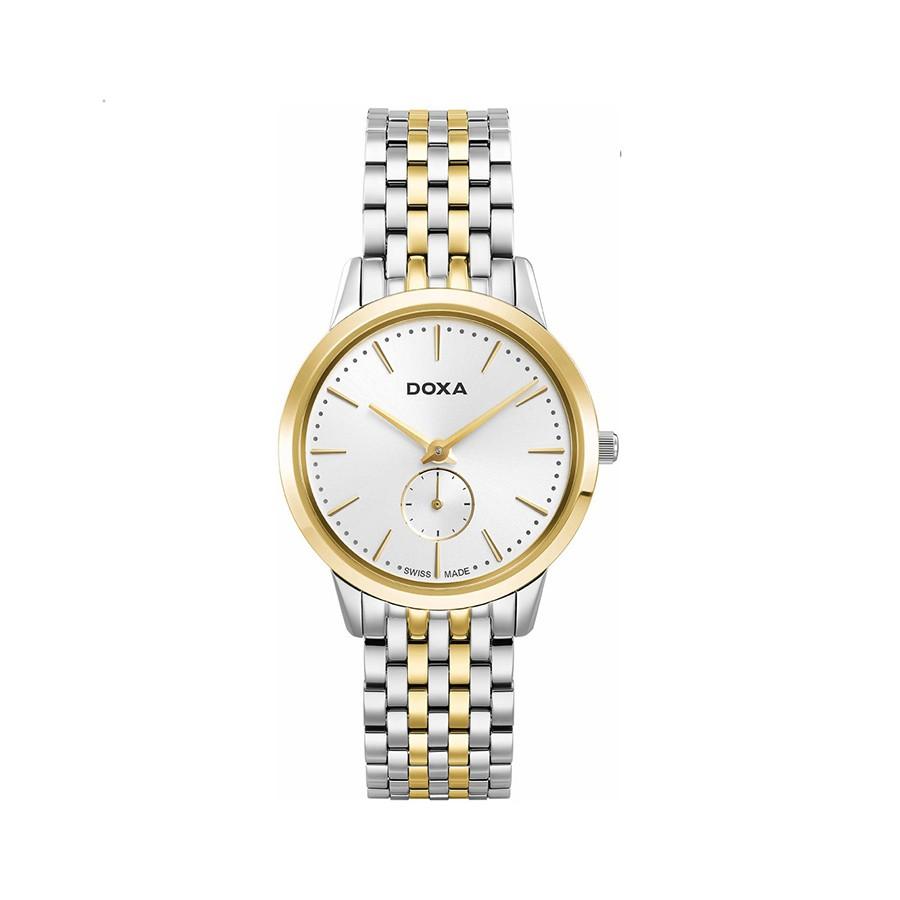Slim Line Quartz White Dial Two-Toned Ladies Watch