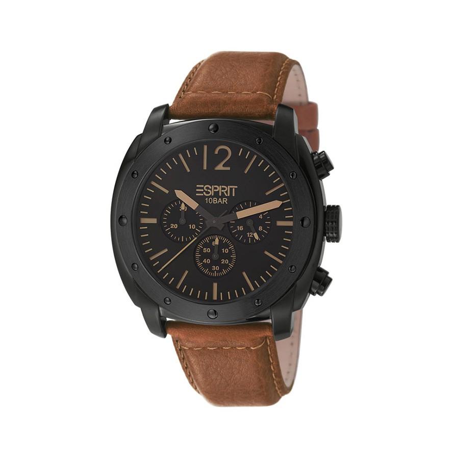 PVD Black Quartz Chronograph Gents Watch