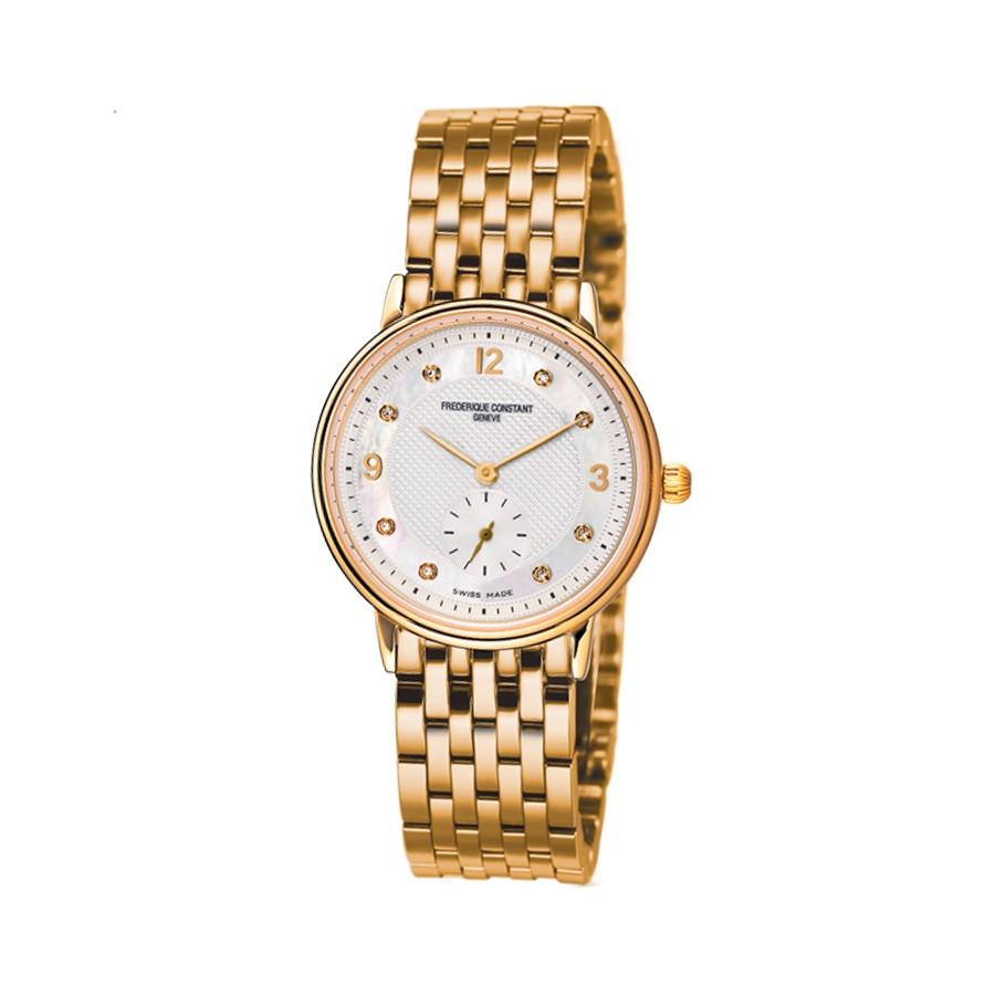 Slimline Diamond Gold-Plated Ladies Watch