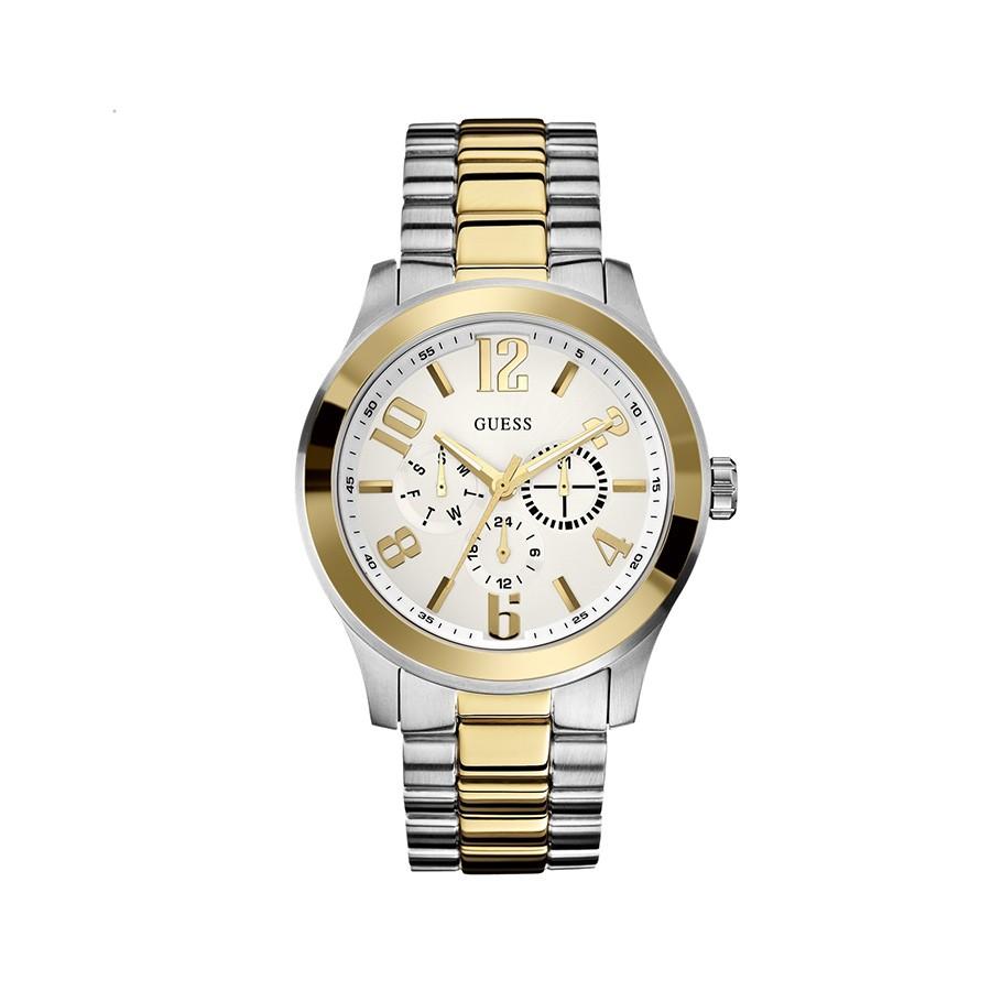GUESS Two-Toned Rush Men's Watch W0007G2