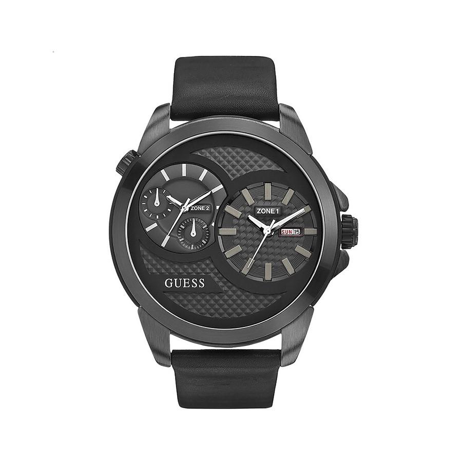 Black Dual Time Men's Watch W0184G1