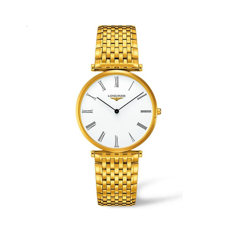La Grande Classique White Dial Yellow Gold Ladies Watch