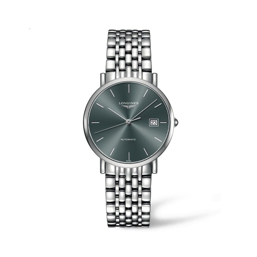 Elegance Automatic Grey Dial Stainless Steel Ladies Watch
