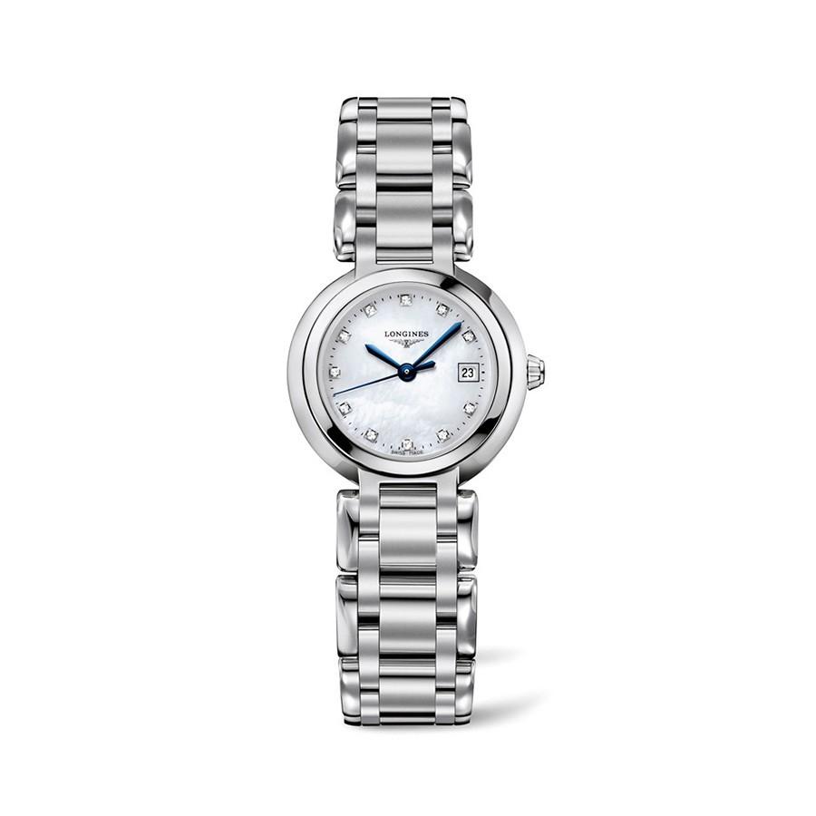Longines PrimaLuna Mother of Pearl Diamonds Ladies Watch