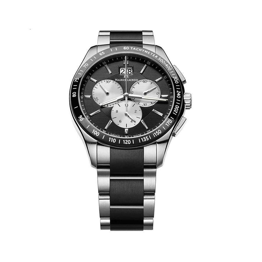 Miros Black Dial Stainless Steel Men's Watch MI1028-SS002-331