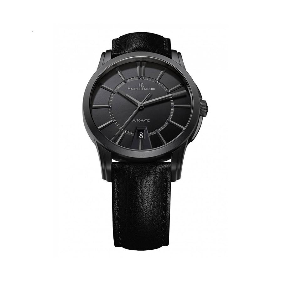 MAURICE LACROIX Pontos Date Black Dial PVD Black Men's Watch PT6148-PVB01-330