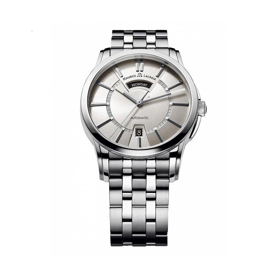 Pontos Silver Dial Steel Men's Watch PT6158-SS002-13E