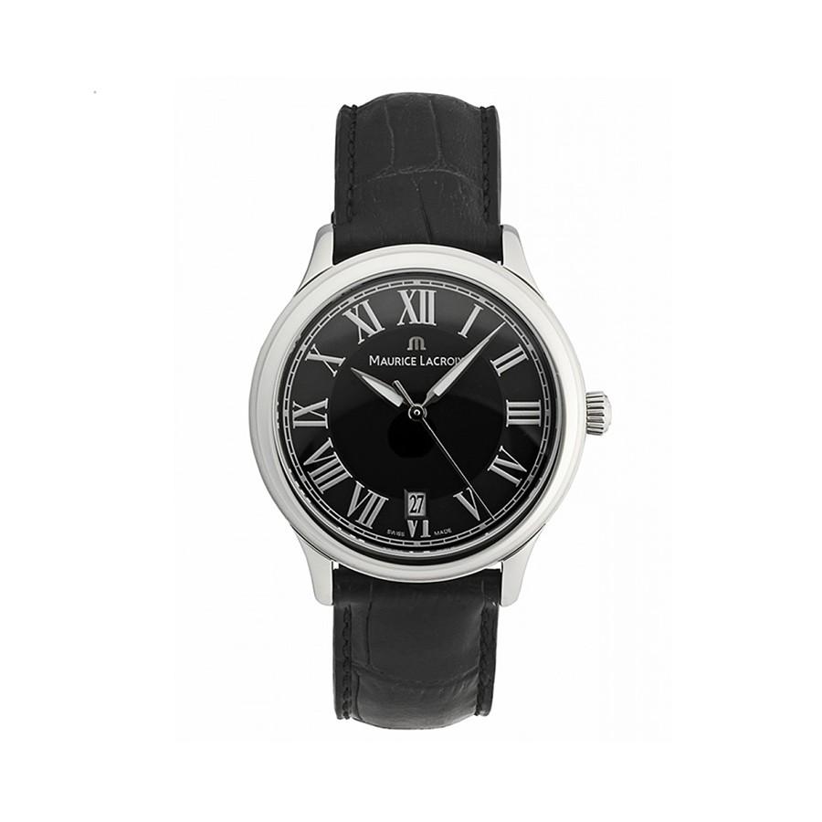 Les Classiques Black Dial Black Leather Men's Watch LC1077-SS001-310