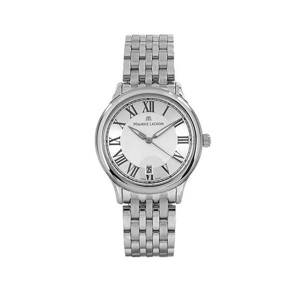 MAURICE LACROIX Les Classiques Silver Dial Steel Men's Watch LC1077-SS002-110