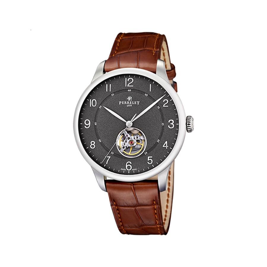 PERRELET First Class Open Heart Grey Dial Men's Watch
