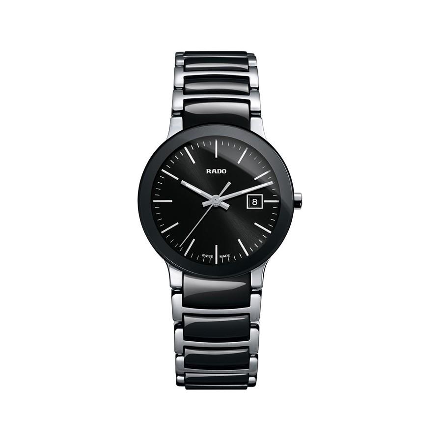 Centrix Black Dial Two-tone Ceramic Ladies Watch
