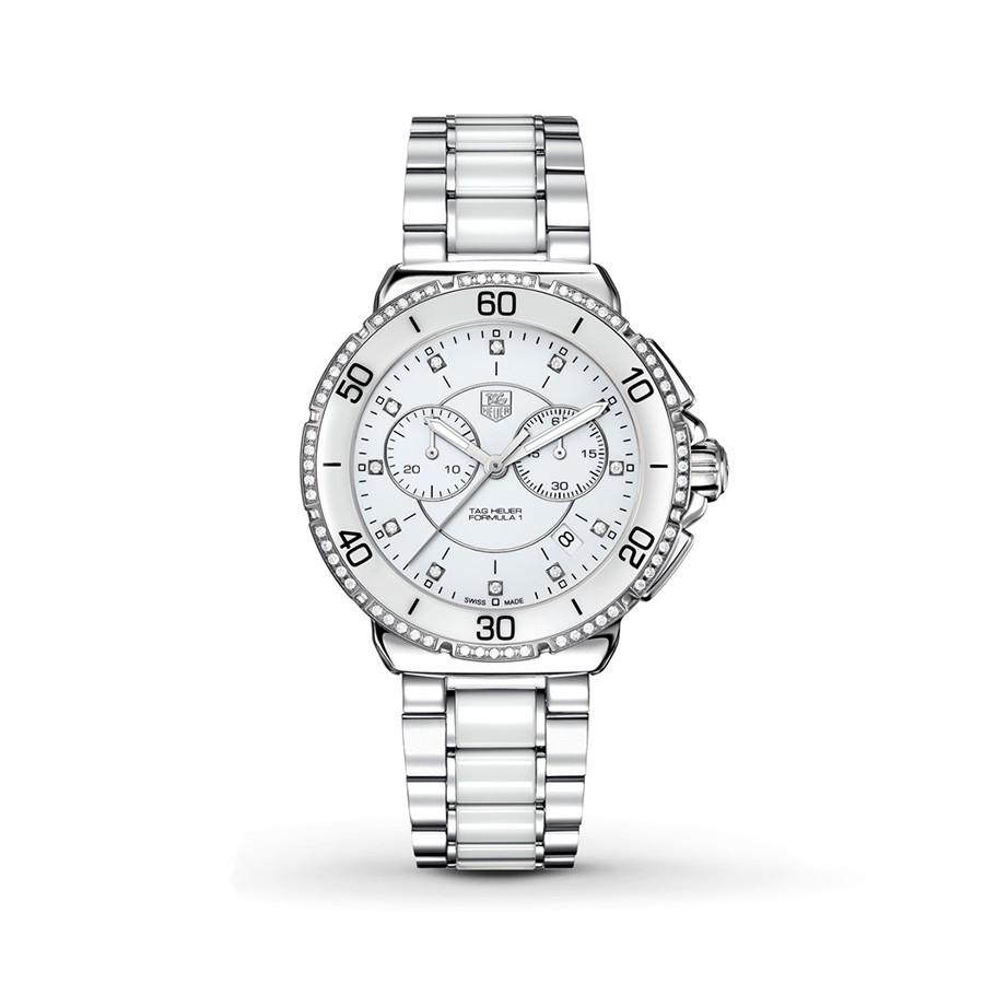 TAG HEUER Formula 1 Diamond White Dial Chronograph Ladies Watch