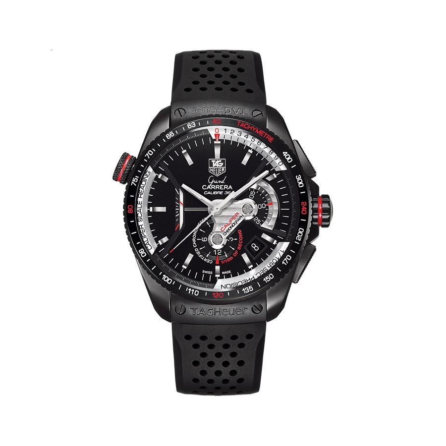 TAG HEUER Grand Carrera Black Dial PVD Titanium Men's Watch