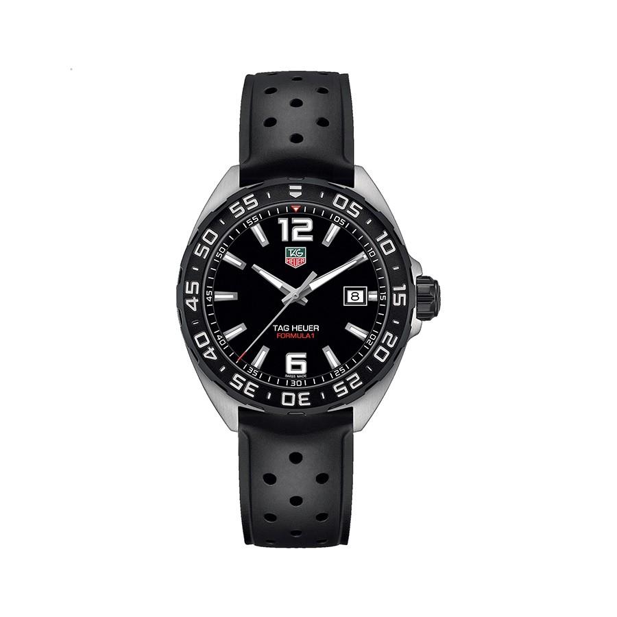 Formula 1 Black Dial Black Rubber Men's Watch
