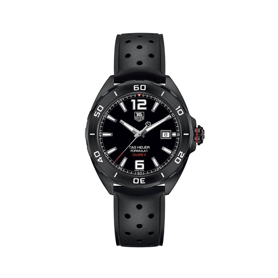 TAG HEUER Formula 1 Automatic Black Dial Black Rubber Men's Watch