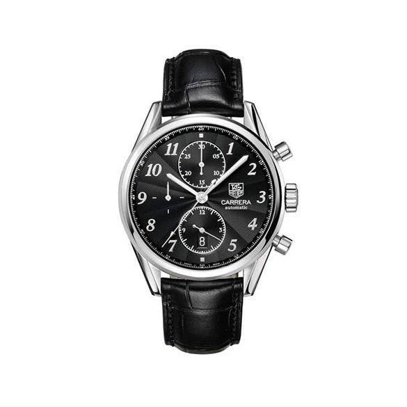 TAG HEUER Carrera Calibre 1887 Chronograph Black Dial Men's Watch
