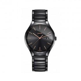 True Black Dial Ceramic Men's Watch R27238162