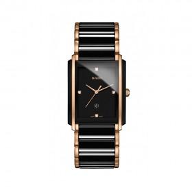 Integral L Black Dial Ceramic Diamond Men's Watch
